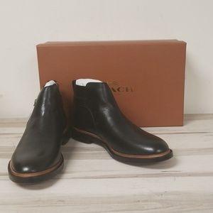 NWB Coach Alston Jodphur Black Leather Boot